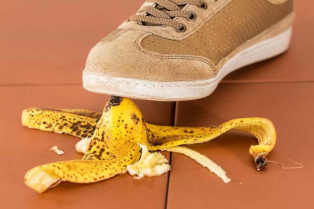 slippery foot dangerous fall